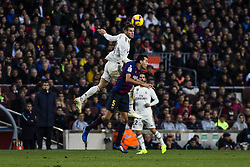 October 28, 2018 - Barcelona, Catalonia, Spain - 11 Gareth Bale from Walles of Real Madrid and 05 Sergio Busquets from Spain of FC Barcelona during the Spanish championship La Liga football match ''El Classico'' between FC Barcelona and Real Sociedad on October 28, 2018 at Camp Nou stadium in Barcelona, Spain. (Credit Image: © Xavier Bonilla/NurPhoto via ZUMA Press)