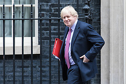 © Licensed to London News Pictures. 07/03/2017. London, UK. Foreign Secretary Boris Johnson leaves 10 Downing Street. Photo credit: Rob Pinney/LNP