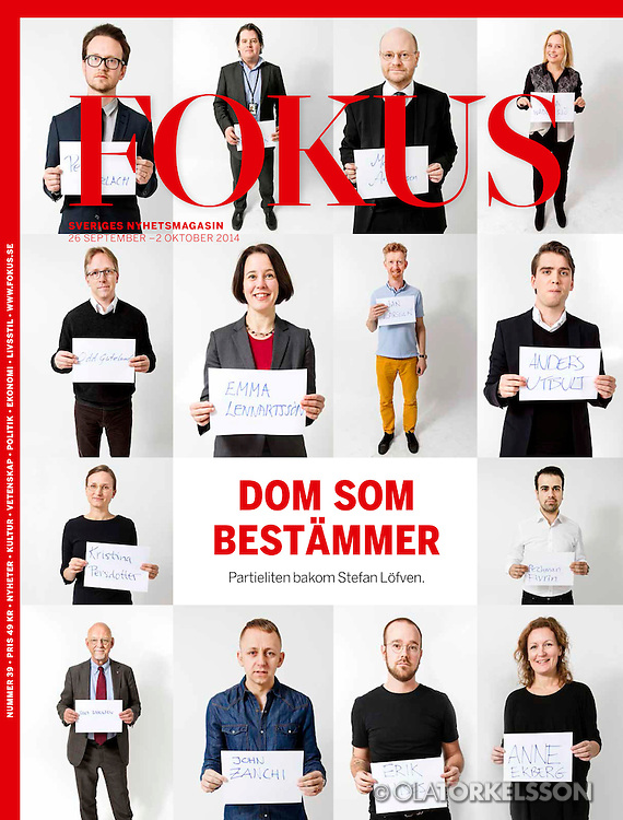 Tear-sheets from Fokus magazine. Reportage about the people in the Social Democratic Party during the election year 2014.<br />