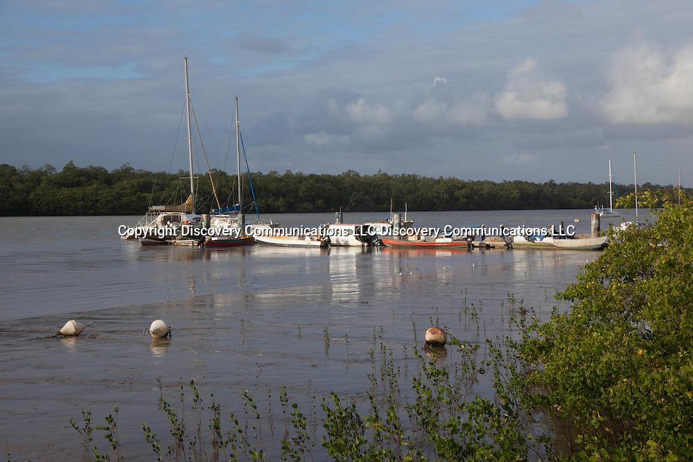 French Guyana, port of kourou  .  royal island,   / port de kourou ,