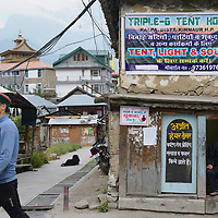 Everyday life in the streets of the small village of Kalpa.