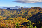 View from the top of Blackrock Summit in the south district of Shenandoah National Park