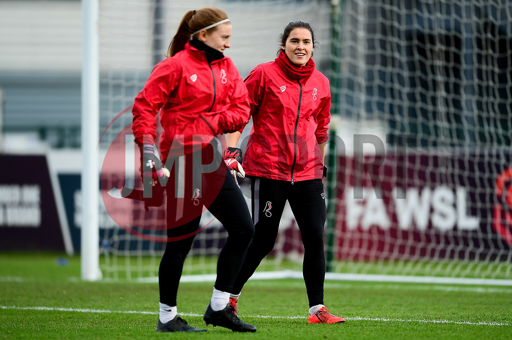Sophie Baggaley of Bristol City and Eartha Cumings of Bristol City warms up prior to kick off - Mandatory by-line: Ryan Hiscott/JMP - 08/12/2019 - FOOTBALL - Stoke Gifford Stadium - Bristol, England - Bristol City Women v Birmingham City Women - Barclays FA Women's Super League
