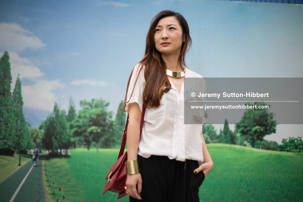 29yr old Zhou Xinman, outside the Capital Museum, in Beijing, China, Friday 1st June 2012.