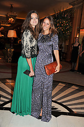 Left to right, LADY NATASHA RUFUS-ISAACS and LAVINIA BRENNAN at Fashion For The Brave held at The Dorchester Hotel, Park Lane, London on 20th September 2012.