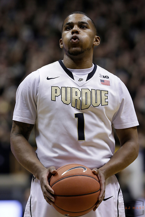 15 February 2014: Purdue Boilermakers guard Sterling Carter (1) as the Indiana Hoosiers played the Purdue Boilermakers in a college basketball game in West Lafayette, Ind.