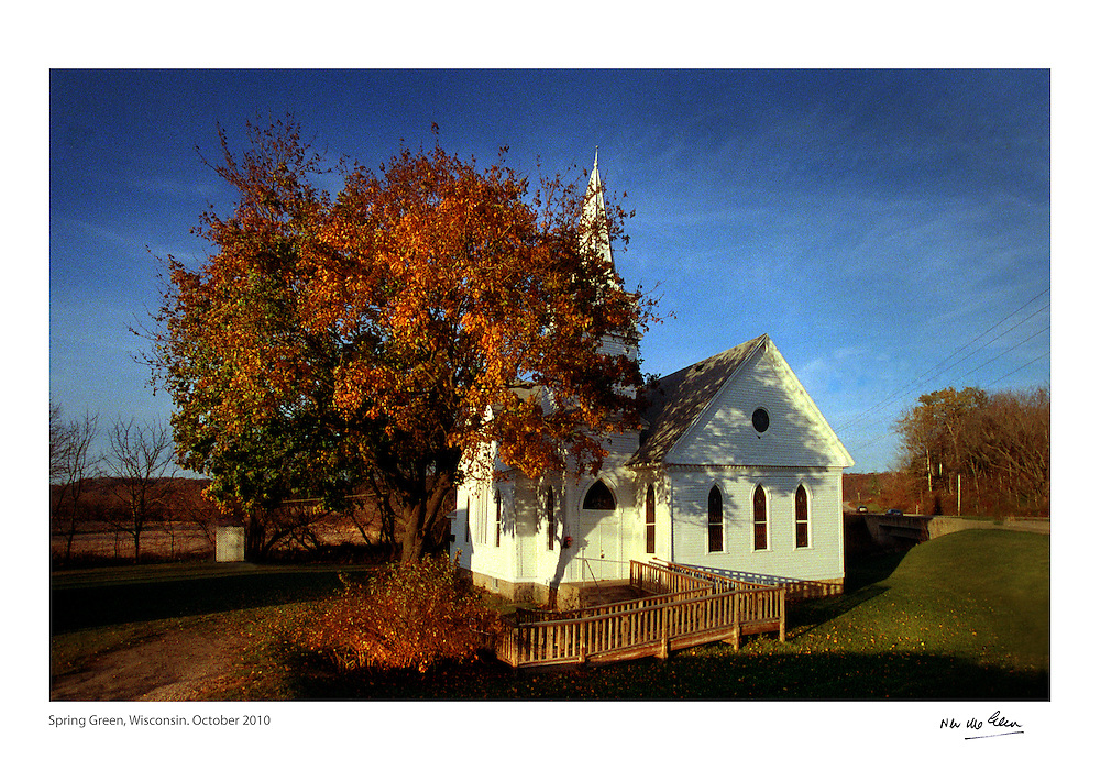 A Church for Sale in Spring Green, Wisconsin. Renovated and converted into private living, some small rural communites cannot sustain the congregations that once supported them.