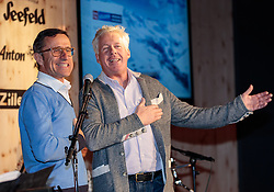 "13.02.2017, St. Moritz, SUI, FIS Weltmeisterschaften Ski Alpin, St. Moritz 2017, TirolBerg, im Bild v.l. Josef Margreiter (Direktor Tirol Werbung), Manfred Furtner (Wirt TirolBerg) singen ""dem Land Tirol die Treue"" // f.l. Josef Margreiter (CEO Tirol Marketing)and Manfred Furtner (The TyrolBerg) sing at TirolBerg during the FIS Ski World Championships 2017. St. Moritz, Switzerland on 2017/02/13. EXPA Pictures © 2017, PhotoCredit: EXPA/ Johann Groder"