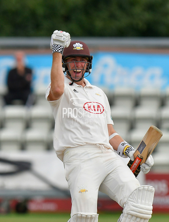 Surrey are Champions - Rikki Clarke of Surrey celebrate winning the County Championship during the final day of the Specsavers County Champ Div 1 match between Worcestershire County Cricket Club and Surrey County Cricket Club at New Road, Worcester, United Kingdom on 13 September 2018.