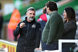 Ricky Pellow speaks with supporters prior to the match - Mandatory byline: Patrick Khachfe/JMP - 07966 386802 - 29/02/2020 - RUGBY UNION - The Twickenham Stoop - London, England - Harlequins v Exeter Chiefs - Gallagher Premiership