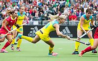 BRUSSEL - Stephanie Kershaw (Aus.)    during AUSTRALIA v SPAIN , Fintro Hockey World League Semi-Final (women) . COPYRIGHT KOEN SUYK