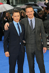 © Licensed to London News Pictures. 12/05/2014, UK. Ian James McAvoy; Michael Fassbender, X-Men: Days Of Future Past - UK Film Premiere, Odeon Leicester Square, London UK, 12 May 2014. Photo credit : Richard Goldschmidt/Piqtured/LNP