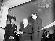 President Sean T O'Ceallaigh opens Central Remedial Clinic, Goatstown along with Lady Goulding (Co-Founder).12/01/1955