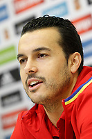 Pedro Rodriguez in press conference during Spanish national football team stage. March 22,2016. (ALTERPHOTOS/Acero)