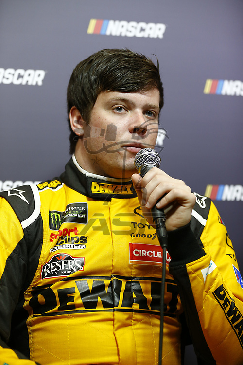 January 23, 2018 - Charlotte, North Carolina, USA: Erik Jones (20) meets with the media before the NASCAR Media Tour at Charlotte Convention Center in Charlotte, North Carolina.