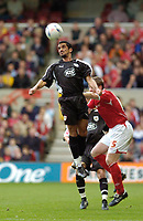Photo: Leigh Quinnell.<br /> Nottingham Forest v Bristol City. Coca Cola League 1. 21/10/2006. Bristol Citys Scott Murray wins the ball in the air.
