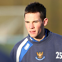 St Johnstone Training..11.01.08<br /> Kevin Moon in training this morning before tomorrow's Scottish Cup tie v Raith.<br /> see story by Gordon Bannerman Tel: 01738 553978 or 07729 865788<br /> Picture by Graeme Hart.<br /> Copyright Perthshire Picture Agency<br /> Tel: 01738 623350  Mobile: 07990 594431
