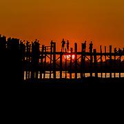 U Bein Bridge Sunset 2
