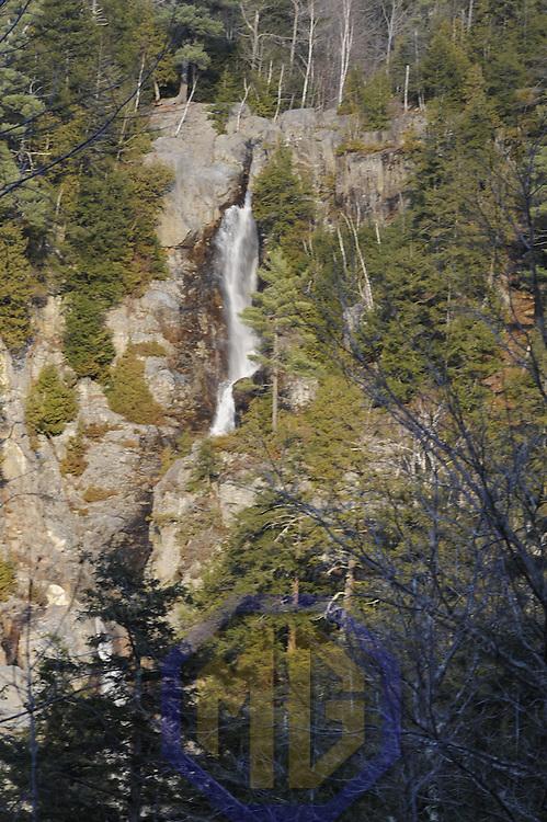 22 November 2009:  General scenes a waterfall near Keene Valley, NY on November 22, 2009.