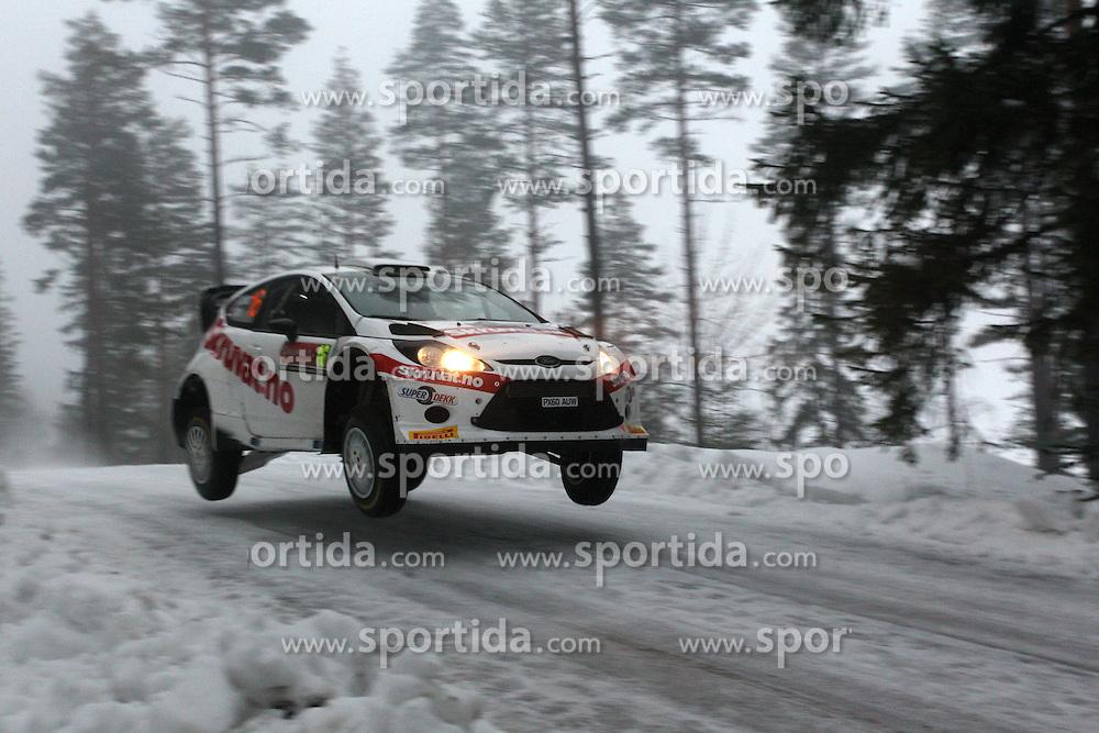 07.02.2014, Hagfors, Karlstad, SWE, FIA, WRC, Schweden Rallye, Tag 3, im Bild Henning Solberg/Ilka Minor (Henning Solberg/Ford Fiesta RS WRC), Action / Aktion, Sprung // during Day 3 of the FIA WRC Sweden Rally at the Hagfors in Karlstad, Sweden on 2014/02/07. EXPA Pictures &copy; 2014, PhotoCredit: EXPA/ Eibner-Pressefoto/ Bermel<br /> <br /> *****ATTENTION - OUT of GER*****