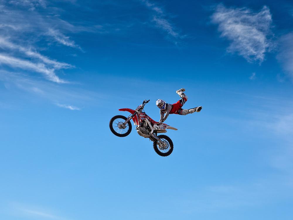 Stunt motorcyle jump