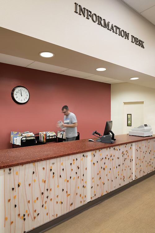 interior improvements on Arden Dimick Library, Sacramento Public Library, CA