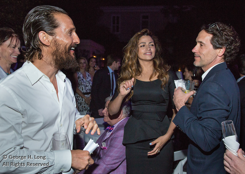 Matthew McConaughey, Camila Alves, and Sean Cummings at the New Orleans Film Society Gala at the home of Paul and Sara Costello on March 28, 2015; Photo: GeorgeLong.com