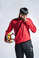 **EXCLUSIVE**Portrait of Chinese soccer player Wang Weicheng of Chongqing Dangdai Lifan F.C. SWM Team for the 2018 Chinese Football Association Super League, in Chongqing, China, 27 February 2018.