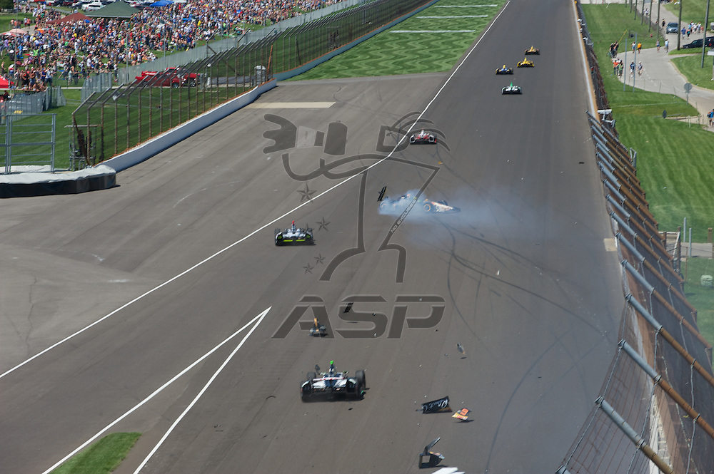 Indianapolis, IN - May 25th, 2014:  Kurt Busch (26) takes to the track during98th running of the  Indianapolis 500 IndyCar race in Indianapolis, IN.  <br /> <br /> MANDATORY PHOTO CREDIT:  Walter G. Arce, Sr. KBI/ActionSportsInc.com