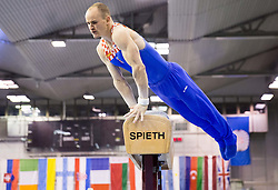 Filip Ude of Croatia competes in the Pommel Horse during Final day 1 of Artistic Gymnastics World Challenge Cup Ljubljana, on April 19, 2014 in Hala Tivoli, Ljubljana, Slovenia. Photo by Vid Ponikvar / Sportida