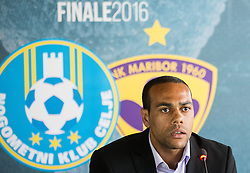 Marcos Tavares of Maribor during press conference of teams NK Celje and NK Maribor before Slovenian Cup 2016 Final match, on May 23, 2016 in National Football Centre, Brdo pri Kranju, Slovenia. Photo by Vid Ponikvar / Sportida