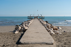 A promenade at the Lido in Venice. From a series of travel photos in Italy. Photo date: Wednesday, February 13, 2019. Photo credit should read: Richard Gray/EMPICS