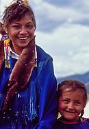 Navajo Sisters at Powwow, Taos, NM
