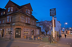 ©Licensed to London News Pictures 21/03/2020<br /> Orpington, UK. The White Hart pub in Orpington. The first night of pubs and restaurants closed in South East London due to the Coronavirus outbreak. Photo credit: Grant Falvey/LNP