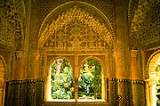 SPAIN, ANDALUSIA, GRANADA Alhambra; Sala las Dos Hermanas