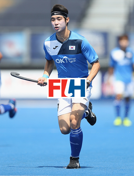 LONDON, ENGLAND - JUNE 17:  Mookyoung Lee of South Korea during the Hero Hockey World League semi final match between China and Korea at Lee Valley Hockey and Tennis Centre on June 17, 2017 in London, England.  (Photo by Alex Morton/Getty Images)