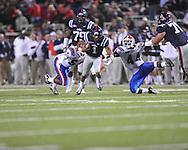 Ole Miss quarterback Randall Mackey (1) in Oxford, Miss. on Saturday, November 12, 2011.