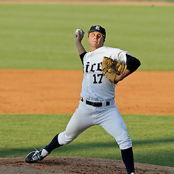 05 June 2009:  Pitcher, Mike Ojala of Rice throws the ball during game one of the NCAA baseball College World Series, Super Regional game between the Rice Owls and the LSU Tigers at Alex Box Stadium in Baton Rouge, Louisiana.