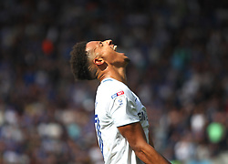 Callum Robinson looks dejected after missing a goal scoring opportunity - Mandatory by-line: Jack Phillips/JMP - 05/08/2017 - FOOTBALL - Deepdale - Preston, England - Preston North End v Sheffield Wednesday - English Football League Championship