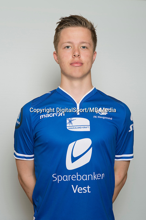 Fotball <br /> Portretter <br /> Tippeligaen<br /> 2015 <br /> Haugesund<br /> Herman B&oslash;rreson Fossdal<br /> Foto: Astrid M. Nordhaug