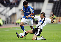 Photo: Paul Thomas. Derby County v Birmingham City, Pre season friendly, Pride Park, Derby. 23/07/2005. Jermaine Pennant tries to get past Richard Jackson.