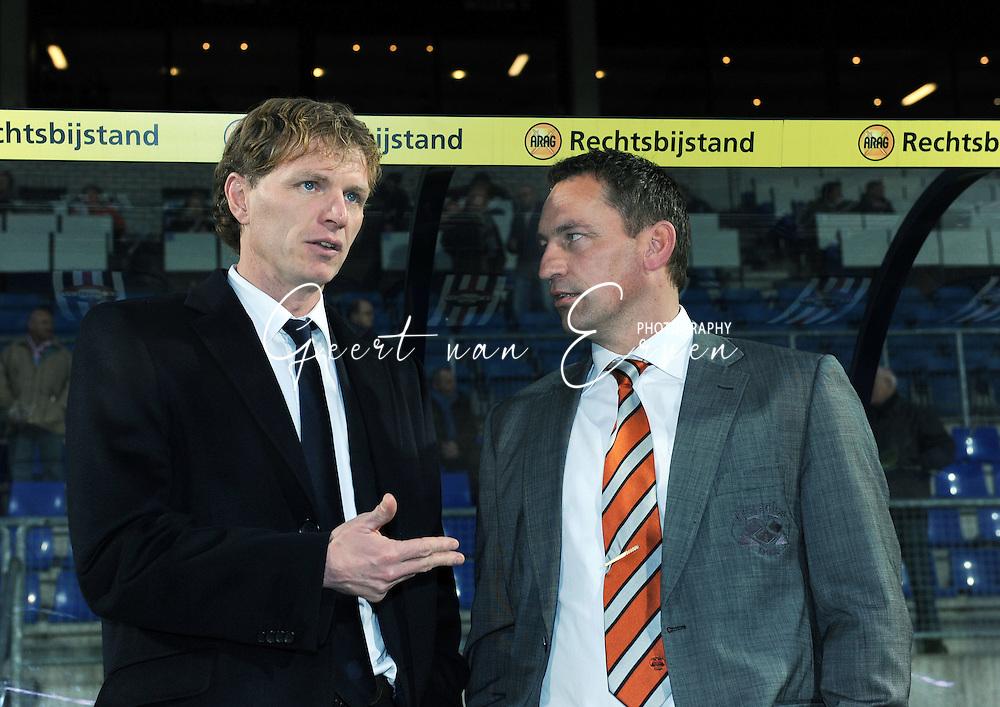 28-02-2009 Voetbal:Willem II:Heracles Almelo:Tilburg<br /> Fons Groenendijk (L) en Ger Heerkes (R) trainers van Willem II en Heracles Almelo<br /> Foto: Geert van Erven