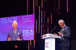 The Prince of Wales makes a speech at the Malaria Summit in 8 Northumberland Avenue, London, during the Commonwealth Heads of Government Meeting.