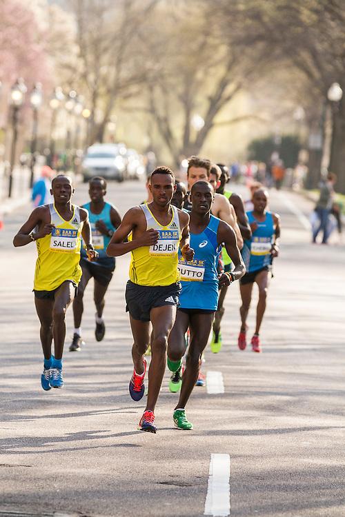 BAA 5K, lead pack of men, Gebremeskel,