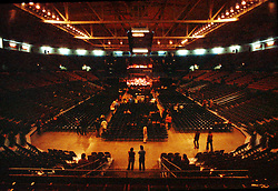Inside Providence Civic Center before the Grateful Dead perform Live on 18 January 1979