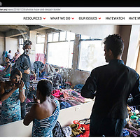 Asylum seekers who had traveled from Central America wait in a shelter in Tijuana. The migrants were looking at months before their number would be called. Photographed for Southern Poverty Law Center.