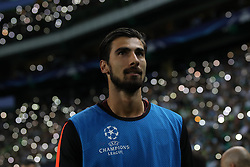September 27, 2017 - Lisbon, Lisbon, Portugal - Barcelonas midfielder Andre Gomes from Portugal  during the match between Sporting CP v FC Barcelona UEFA Champions League playoff match at Estadio Jose Alvalade on September 27, 2017 in Lisbon, Portugal. (Credit Image: © Dpi/NurPhoto via ZUMA Press)