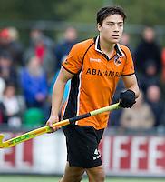 EINDHOVEN - hockey - Thomas Briels van OZ tijdens de hoofdklasse hockeywedstrijd tussen de mannen van Oranje-Zwart en Bloemendaal (3-3). COPYRIGHT KOEN SUYK