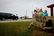 US President Barack Obama visits the areas affected by the oil slick following the Deepwater Horizon explosion.