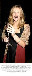 TV presenter LINDA BARKER at a reception in London on 12th December 2000.OKD 144